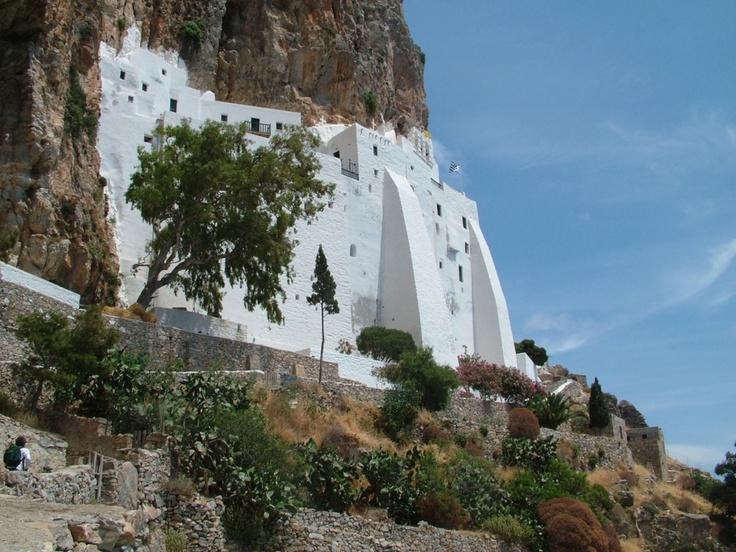 The historical monastery of Panagia Hozoviotissa on the cliffs of Amorgos
