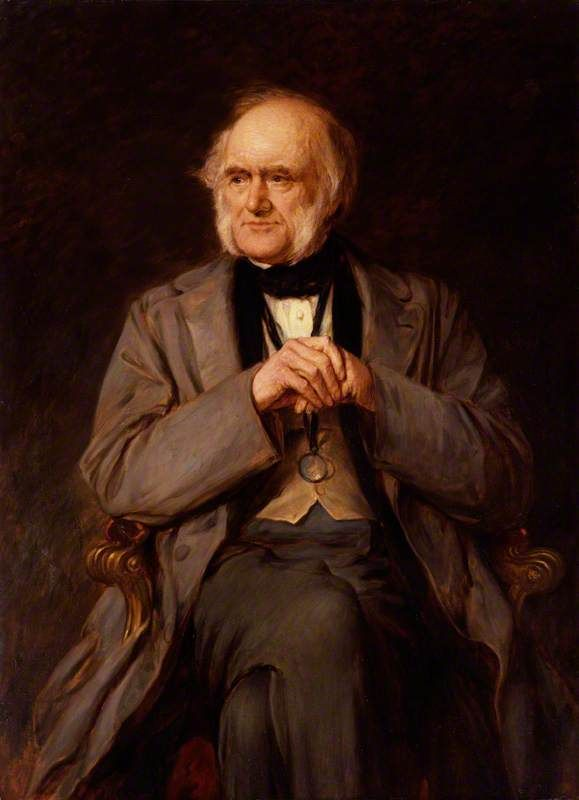 Sir Charles Lyell, 1st Bt, 1883, by Lowes Cato Dickinson