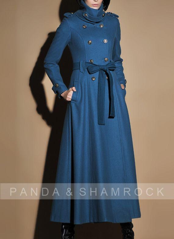 fall wind/women clothing/long coat/high by pandaandshamrock