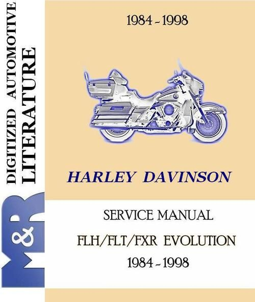 1984-1998 harley davidson flh - flt - fxr service manual (shop-workshop)  100 satisfaction guaranteed download | harley davidson service manuals |  harley