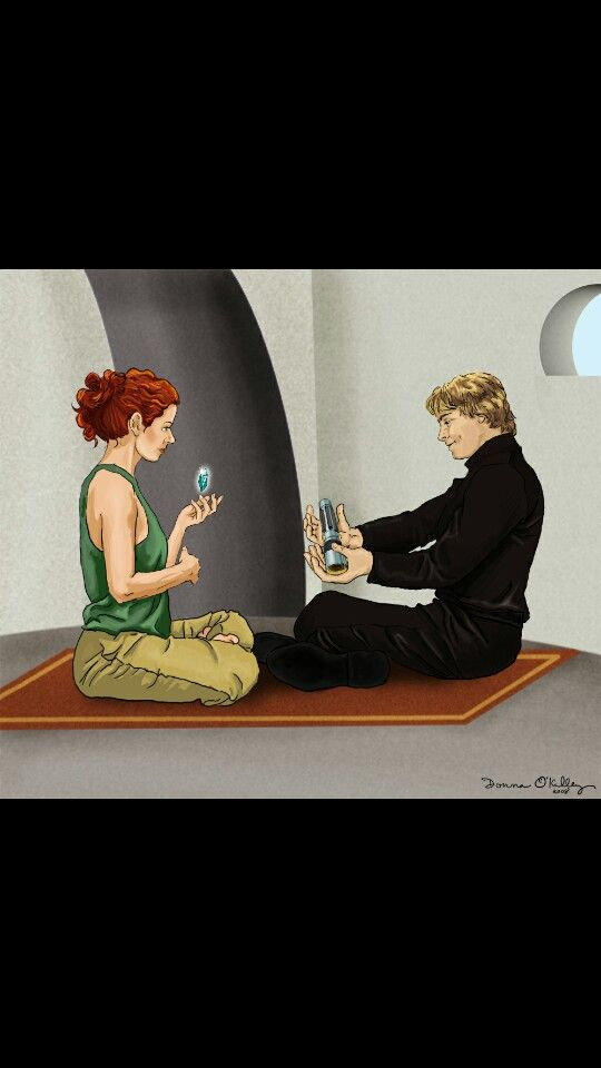 Luke and Mara Jade Skywalker. So adorable.