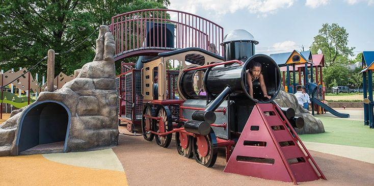 Turkey Thicket Recreation Center - Train-Themed Playground ...