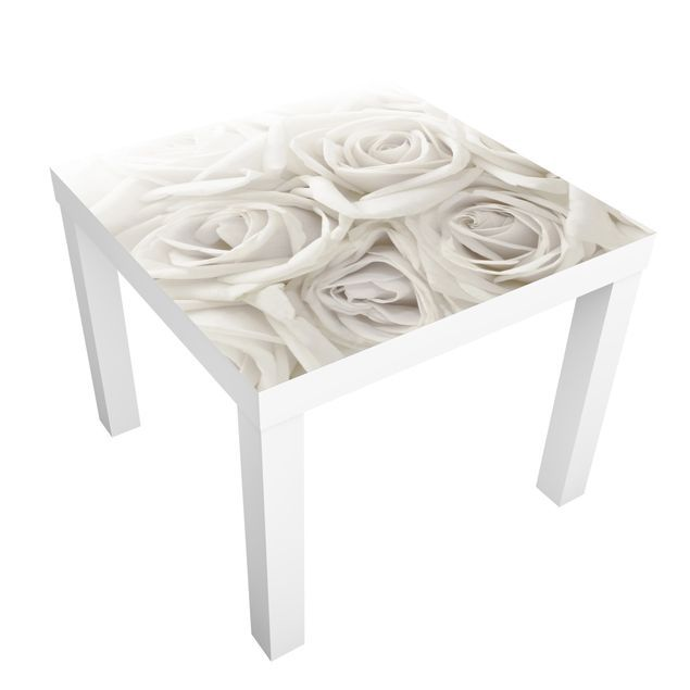 Ikea Adesivi Per Mobili.Carta Adesiva Per Mobili Ikea Lack Tavolino White Roses Mobili