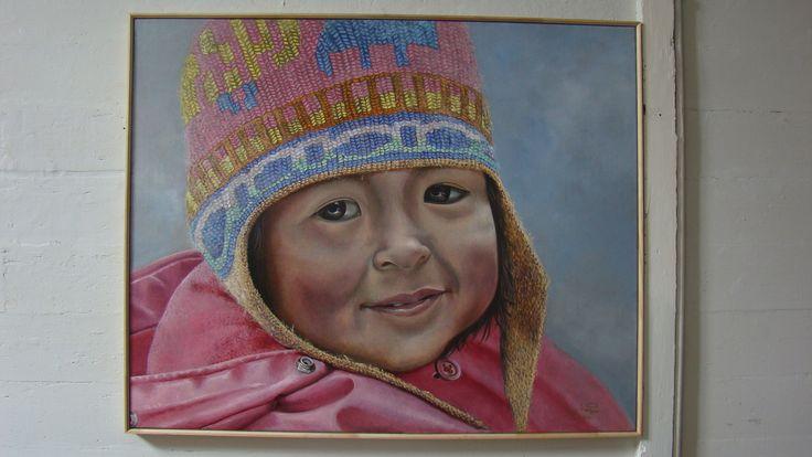 Luis Núñez, artista plástico #Antofagasta #Chile. Retrato en óleo sobre tela