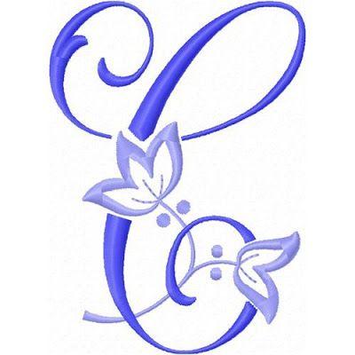 Alfabeto con Flor de Lis bordada.   Oh my Alfabetos!