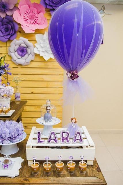 Decoração Com Bexiga Festa Princesa Sofia Decoração De Unha