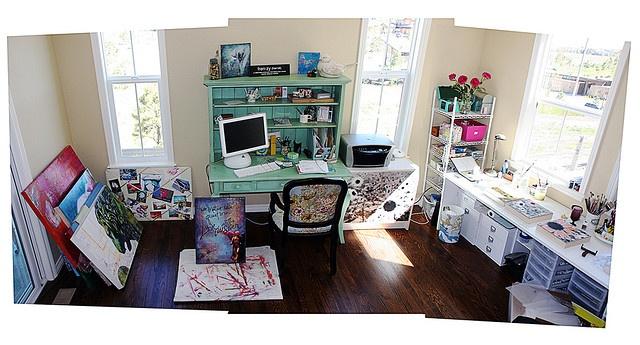 sun, organization, pops of color: Art Craft Workshop, Art Spaces, Art Studios, Artist Studios, Art Studio Spaces, Photo, New Art, Art Craft Room