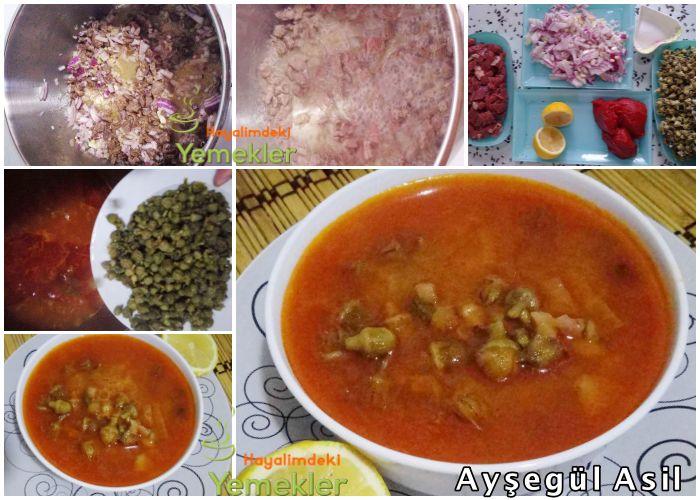Bamya Çorbası Tarifi ( Konya'ya Özel Çiçek Bamya Çorbası ) | Resimli Yemek Tarifleri Hayalimdeki Yemekler