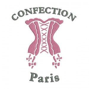 Motif de broderie machine corset lingerie.