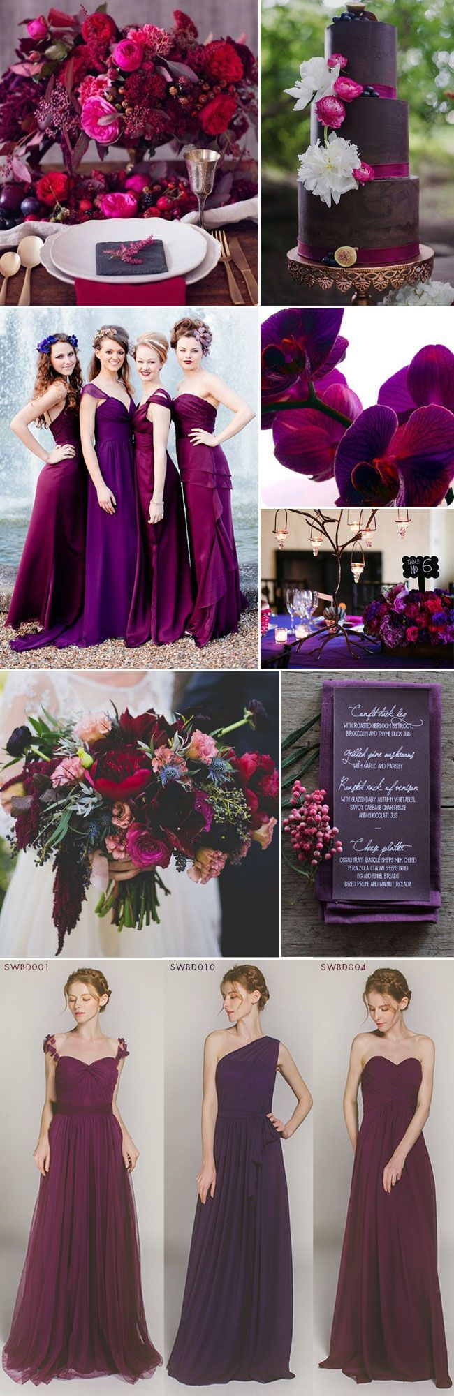 Fuchsia and Plum Purple Jewel Toned Wedding Ideas