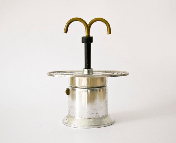 Vintage Italian Coffee Maker Mini express Stovetop by ilivevintage