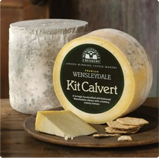 Kit Calvert Old Fashioned Wensleydale cheese. Kit Calvert Wensleydale cheese is a lovingly handcrafted buttery, creamy textured cheese. Handcrafted to an old-fashioned recipe this cheese celebrates the father of Wensleydale cheese 'Kit Calvert', who helped to save the Wensleydale Creamery from closure in 1935.