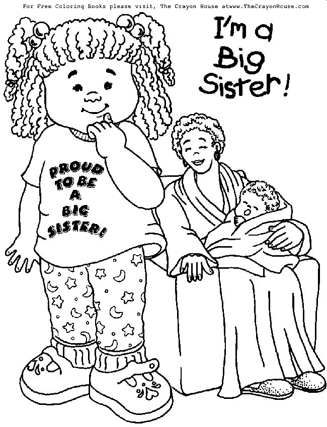 free downloadable coloring pages for big sisters | 10 best New Baby In the House images on Pinterest | Big ...