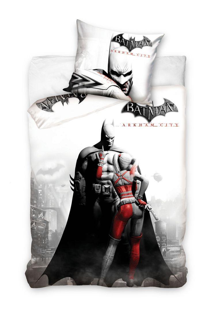 Batman szara pościel bawełniana na łóżko