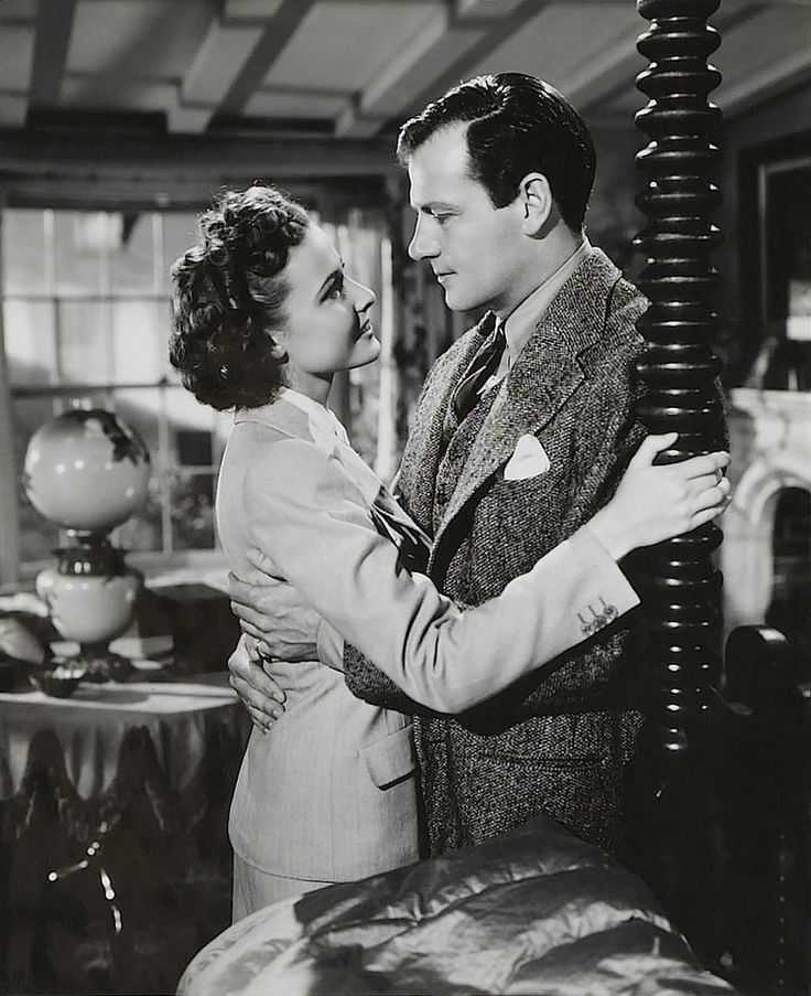 Laraine Day and Joel McCrea in Foreign Correspondent. 1940