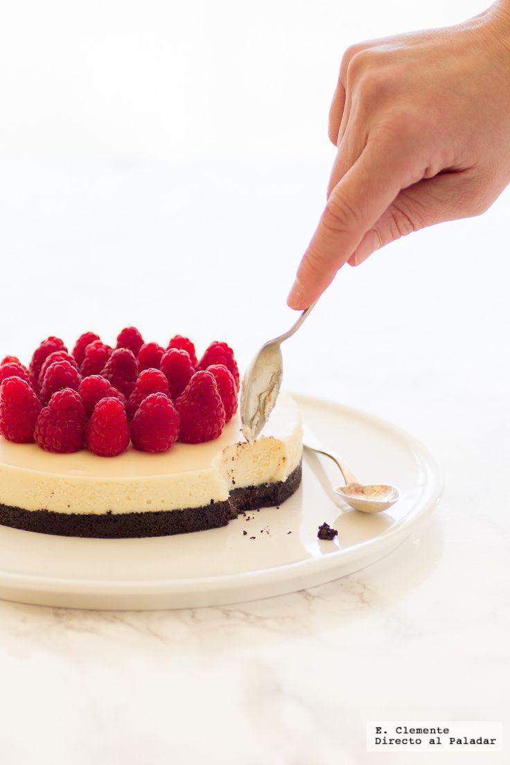 tarta de galletas Oreo y chocolate blanco