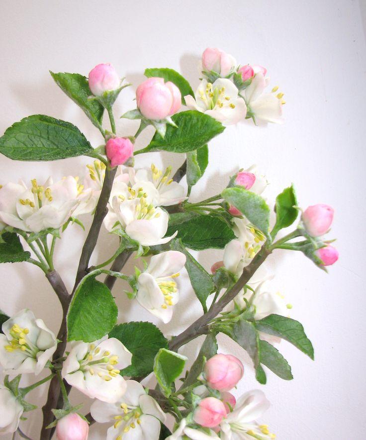 Цветы яблони. Ручная работа.