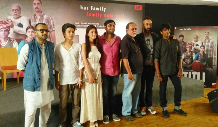 Dibakar Banerjee, Shashank Arora, Shivani Raghuvanshi, Kanu Behl, Lalit Behl, Ranvir Shorey  and Amit Sial at the press conference of Titli