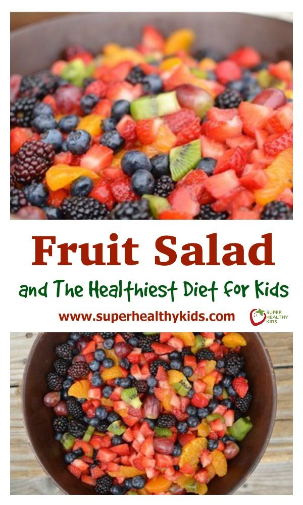 Fruit Salad and The Healthiest Diet for Kids. This one feeds a lot! Perfect for a potluck. www.superhealthykids.com/fruit-salad-and-the-healthiest-diet-for-kids