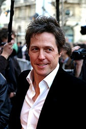 Hugh Grant in Love Actually, About a Boy, Two Weeks Notice, Four Weddings and a Funeral, Bridget Jones Diary, Notting Hill, Music and Lyrics