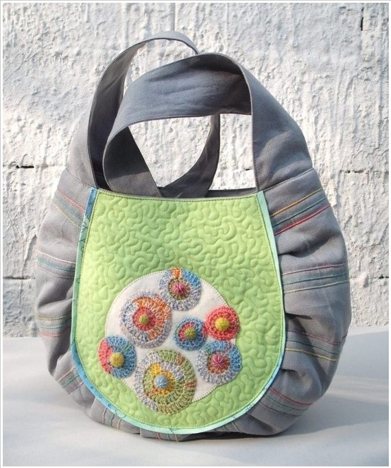 20 SALE Fabulous Pebbles shoulder bag made from by colettecolor, $55.00