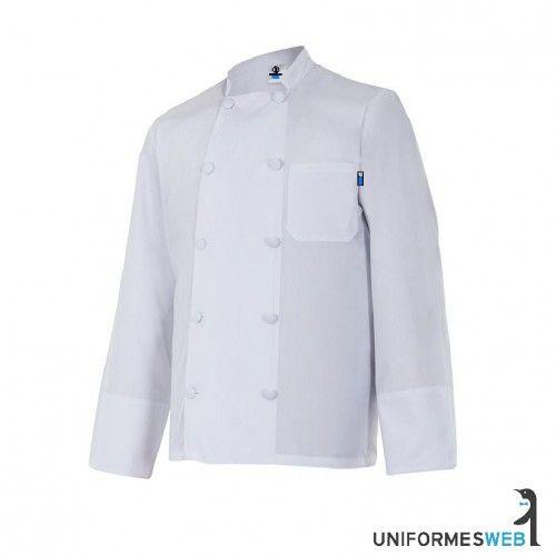 #chaquetilla de #cocinero en color blanco y manga larga para  #ropa de trabajo en uniformes web