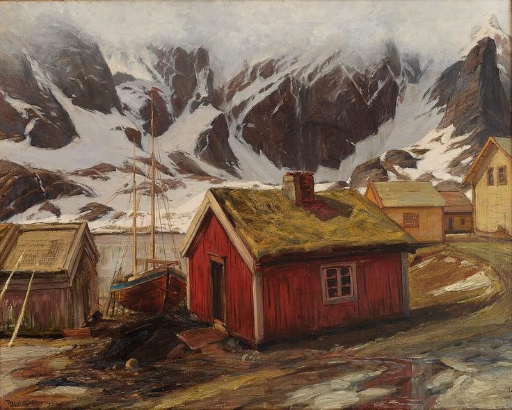 Thorolf Holmboe 1866-1935: Fiskevær i Lofoten 1902