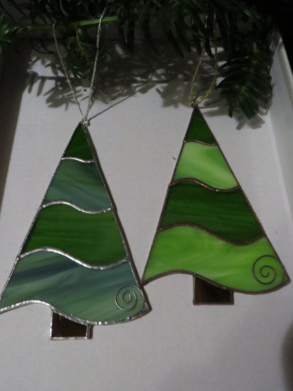 stained glass christmas ornament christmas tree
