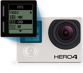 GoPro HERO4 Black Edition camera video de acțiune instrumentul suprem pentru a înregistra filmul cel mai detaliat si captivant 4K Ultra HD 3840 x 2160