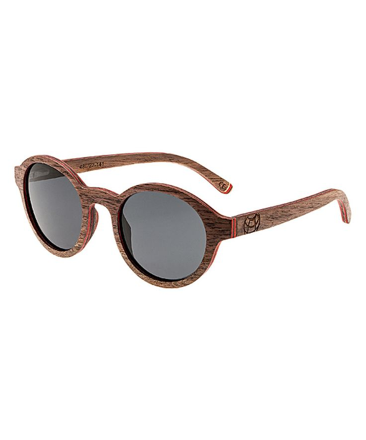 Love this Brown Stripe Maho Wood Sunglasses by EARTH wood watches on #zulily! #zulilyfinds