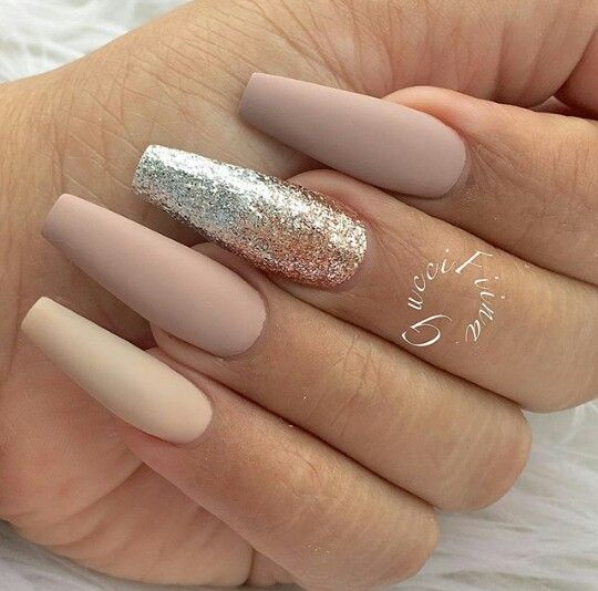 Pin by 0Khali on Nails | Pinterest | Coffin nails, Nude ...