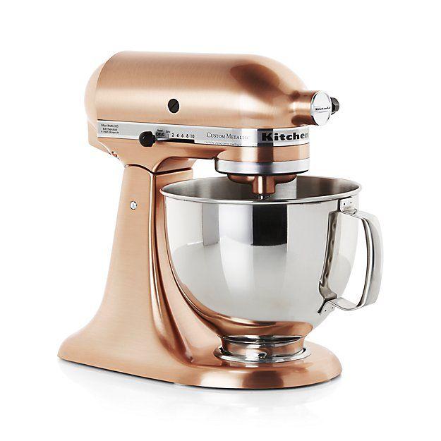 $599.99  KitchenAid ® Copper Metallic Series Stand Mixer | Crate and Barrel