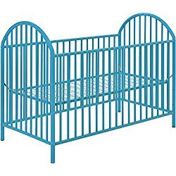Cosco Applegate Metal Crib, Light Blue