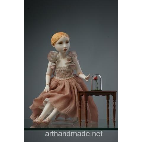 "Ball-jointed doll ""Rose"", BJD. Author Juliet Pelukh - http://arthandmade.net/peluh.uliya  Doll, ball-jointed doll, BJD, collectible doll, handmade doll, gift, originalgift, craft, handmade, collection, Gallery Magical World, кукла, купить куклу, шарнирная кукла, коллекционная кукла, кукла ручной работы, подарок, оригинальный подарок, ручная работа, коллекция, Галерея Волшебный мир"