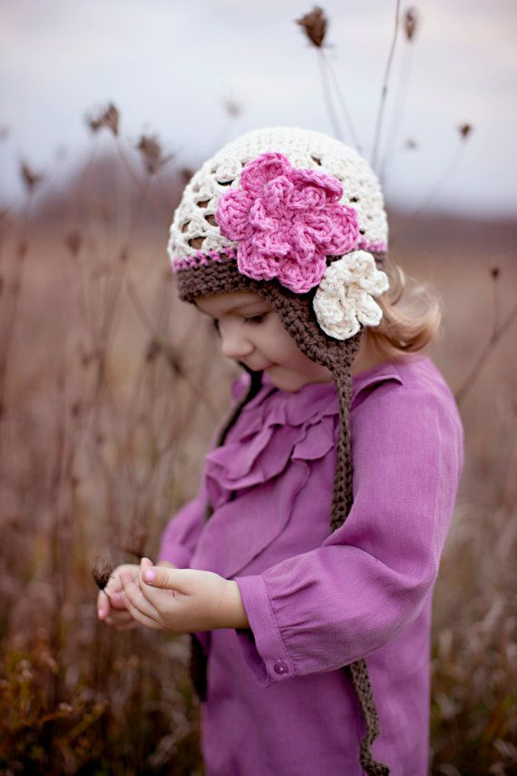 toddler girl hat baby hat girls hat crochet by VioletandSassafras Crochet for Camilla