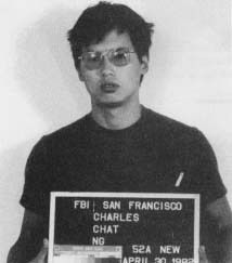 Charles Ng    Mug shot of Ng taken in 1982  Background information  Birth name	Charles Chi-Tat Ng  Born	 December 24, 1960 (age 51)  Hong Kong  Conviction	Burglary  Kidnapping  Conspiracy to commit murder  Attempted murder  Murder  Sentence	Death  Killings  Number of victims	11–25[1]  Country	United States  State(s)	Calaveras County, California  Date apprehended	June 6, 1985[2]