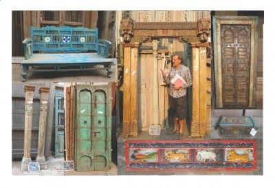 антикварные двери и ставни из индии