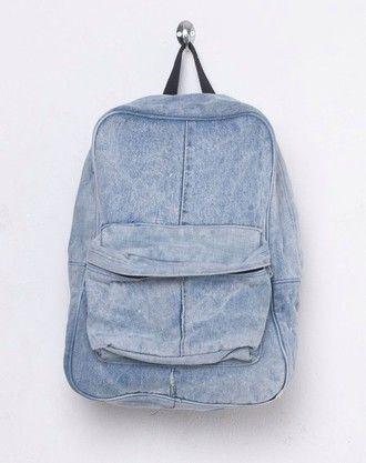 bag denim rucksack backpack travel hipster back to school denim backpack summer sports