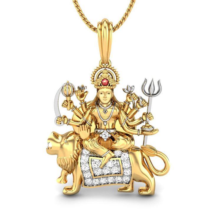 Durga Maa Diamond Pendant