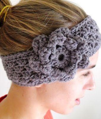 Crochet Granny Stripe Headband/Earwarmer... ♥Crochet Earmwarm, Crochet Flower, Crochet Ears, Ears Warmers, Grey Crochet, Crochet Pattern, Crochet Earwarmer, Flower Pattern, Crochet Headbands