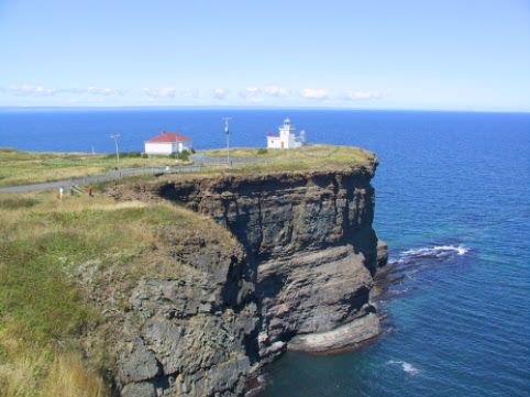 Bell island Newfoundland. Natural walking trails pass by this cliff top lighthouse