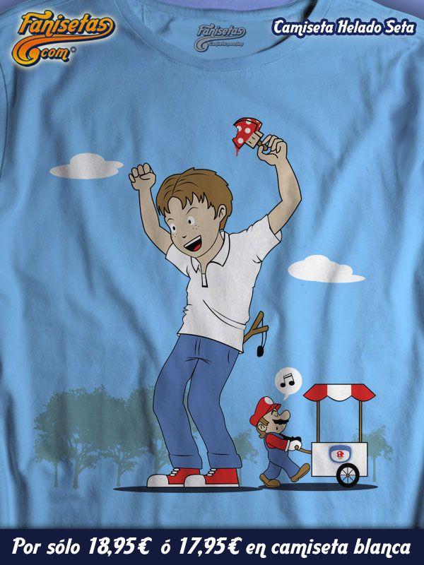 """Helado Seta"" Queréis ser gigantes por un rato? En nada pasará #Mario, por delante de donde estáis ahora mismo. vendiendo #helados que harán que crezcáis instantáneamente. #Camisetas #Divertidas #Veraniegas #Fanisetas #MarioBros #Verano #Videojuegos http://www.fanisetas.com/camiseta-helado-seta-p-1902.html"