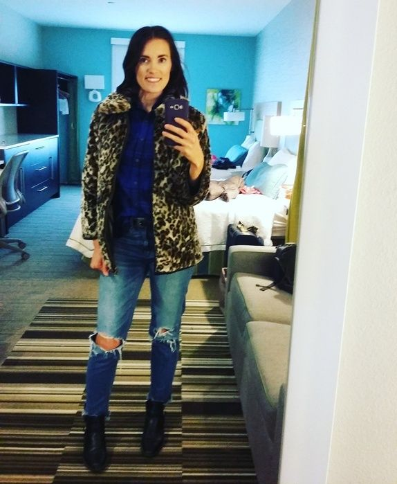 hotel vibes. #mrsbrittanywest #thatsdarling #plaid #leopard #boots #aejeans #jeans #coat #winterfashion #winterstyle #ShopStyle #ssCollective #MyShopStyle #ootd #mylook #lookoftheday #currentlywearing #todaysdetails #getthelook #wearitloveit #shopthelook