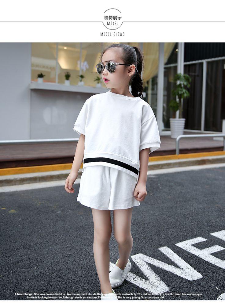 Большие девочки 2016 лето новый детский с короткими рукавами футболки шорты костюм отцовство случайные хлопка кусок - Taobao