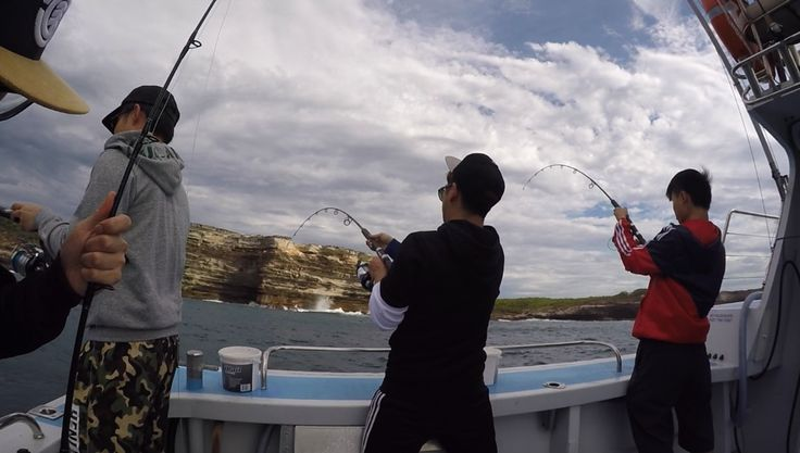 Two Kingfish at a time.... - http://sydneypremiumfishingcharters.com.au/two-kingfish-at-a-time/