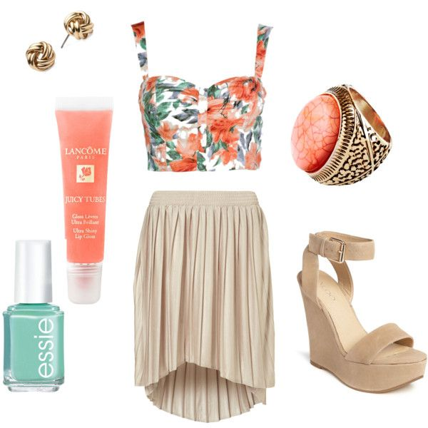 I want this outfit. Cropped tops + high waisted skirts = hot. Plus coral is one of my favorite colors.: Friends Pet, Furry Companion, Fashion Fave, Pretty Clothing, Families Pet, Girls Dresses, Spring Outfits, Clothing Adventure, Furry Friends