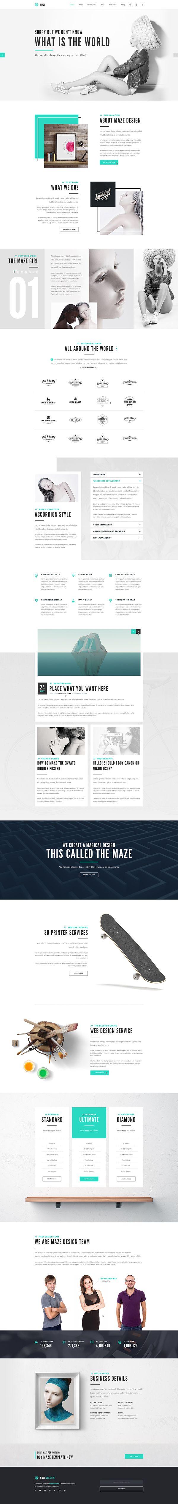 Maze | Creative Agency PSD Template on Behance