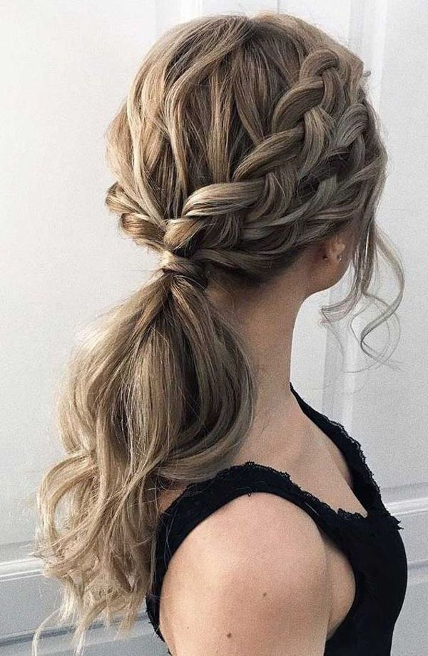 If You Don T Want To Make Your Special Day Less Gorgeous You Should Have A Look At The Braided Prom Hairstyl Pony Hairstyles Simple Prom Hair Dance Hairstyles