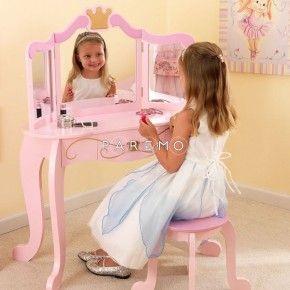 Туалетный столик (трельяж) с зеркалом для девочки «Принцесса» (Princess Vanity & Stool) KidKraft (Кидкрафт)
