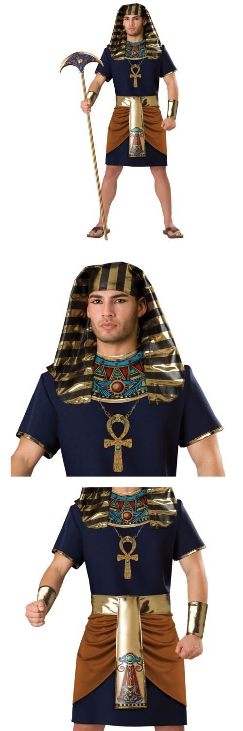 Men Costumes: Pharaoh Costume Adult Egyptian King Tut Halloween Fancy Dress -> BUY IT NOW ONLY: $43.99 on eBay!